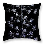 Sparkling Diamond Snowflakes Throw Pillow