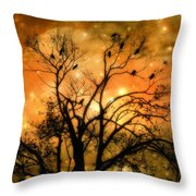Sparkling Stars Light The Sky Throw Pillow