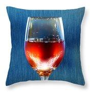 Sparkling Moscato Throw Pillow by Bill Tiepelman