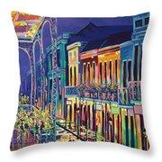 Sparkling Night On Bourbon Street Throw Pillow