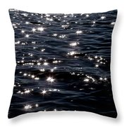 Sparkling Waters At Midnight Throw Pillow