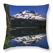 Sparks Lake Reflection Throw Pillow