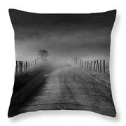 Sparks Lane In Black And White Throw Pillow