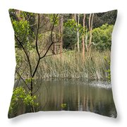 Sparrow In A Tree Throw Pillow
