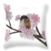 Sparrow Art  Throw Pillow