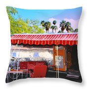 Spartan Manor Palm Springs Throw Pillow