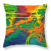 Spatial Slice Diffusion Throw Pillow