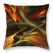 Spatially And Temporally Throw Pillow