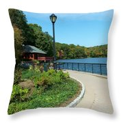 Spaulding Pond In Fall I Throw Pillow