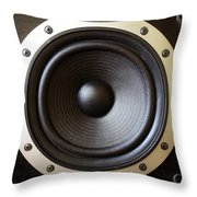 Speaker Throw Pillow by Les Cunliffe