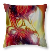Speaking In Flames Throw Pillow