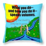 Speaks Volumes Throw Pillow