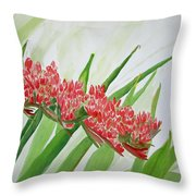 Spear Lily Throw Pillow