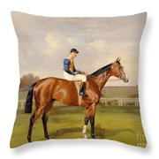 Spearmint Winner Of The 1906 Derby Throw Pillow by Emil Adam