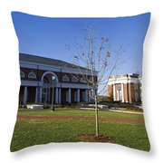 Special Collections Library And Alderman Library University Of Virginia Throw Pillow