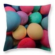 Speckled Easter Eggs Throw Pillow