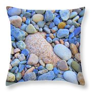 Speckled Stones Throw Pillow