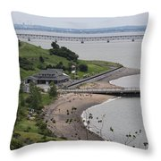 Spectacle Island Boston Massachusetts Throw Pillow