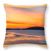 Spectacle Island Sunrise Throw Pillow