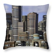Spectacle View Pixelated Throw Pillow