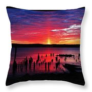 Spectacular Hudson Sunrise Throw Pillow