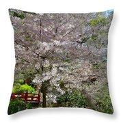 Spectacular Japanese Garden Throw Pillow