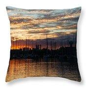 Spectacular Sky - Toronto Beaches Marina Throw Pillow