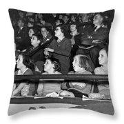 Spectators At The Circus Throw Pillow