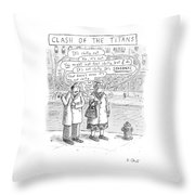 Speech Bubbles: It's Chilly Out Throw Pillow