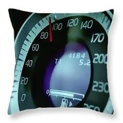 Speed Dependence Speedometer Throw Pillow