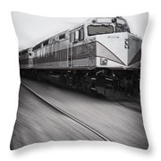 Speeding Along Throw Pillow