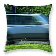 Speeding Gas Prices Throw Pillow