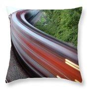 Speeding Train Throw Pillow