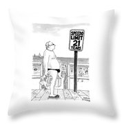 Speedo Limit: 21 Years Throw Pillow