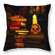 Spells Throw Pillow by Bob Orsillo