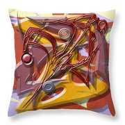 Spelunkers Throw Pillow