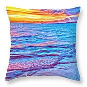 Spencer Beach Sunset Throw Pillow