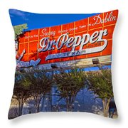 Spend Some Time In Dublin Texas With Dr Pepper Throw Pillow