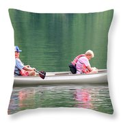 Spending Quality Time Throw Pillow