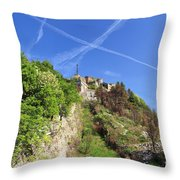 Sperone Fortress In Genova Throw Pillow