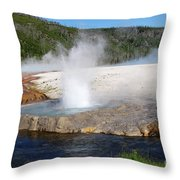 Spewing Beauty Throw Pillow
