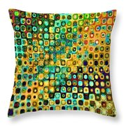 Spex Future Abstract Art Throw Pillow