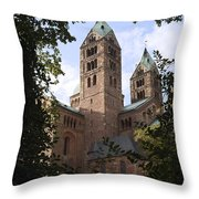 Speyer Dom Spires Throw Pillow
