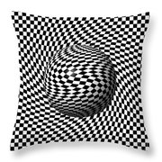 Sphere Abstract Pinch Throw Pillow