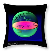 Sphere Equations Maths Poster Black Throw Pillow