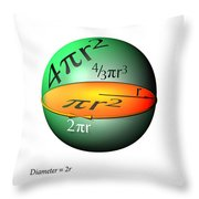 Sphere Equations Maths Poster White Throw Pillow