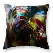 Sphere Of Color Throw Pillow