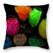 Spherical Polymer Gel 2 Throw Pillow