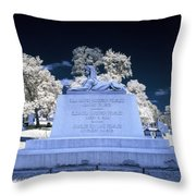 Sphinx Profile Near Infrared Blue And White Throw Pillow