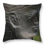 Sphinx Statue Head Grey Usa Throw Pillow